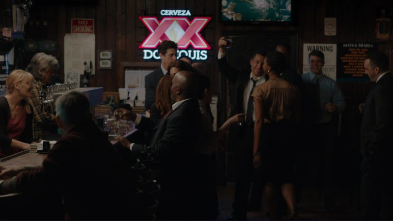 Cerveza XX Dos Equis Sign in Billions: Not You, Mr. Dake (2018) TV Show Product Placement