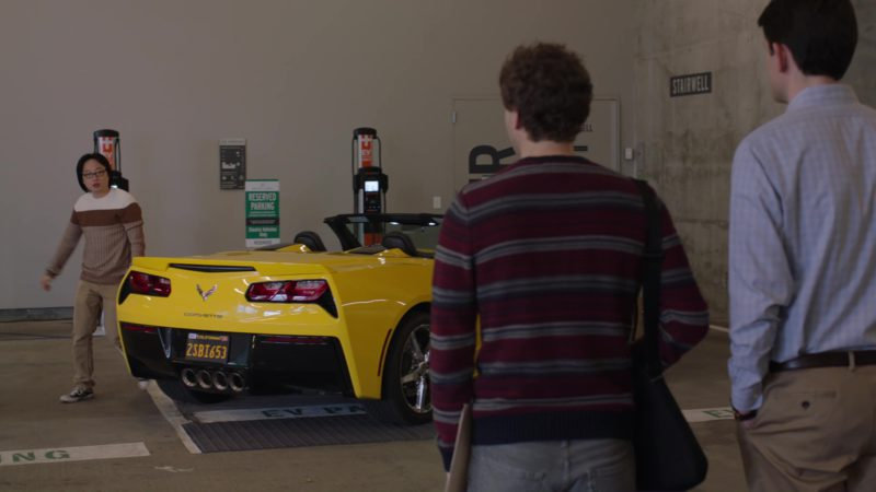 Chevrolet Corvette Driven by Jimmy O. Yang (Jian-Yang) in Silicon Valley: Tech Evangelist (2018) - TV Show Product Placement