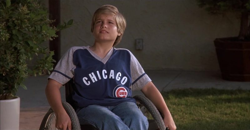 Chicago Bears T-Shirt Worn by Jade Calegory in Mac and Me (1988) Movie Product Placement