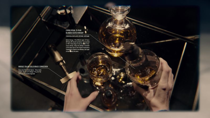 Chivas Regal Whisky in Anon (2018) Movie Product Placement