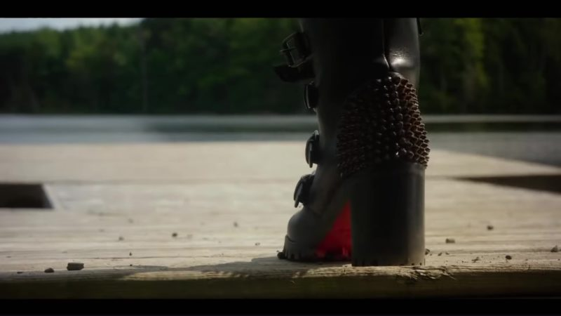 Christian Louboutin Studded Buckle Boots Worn by Blake Lively in A Simple Favor (2018) Movie Product Placement