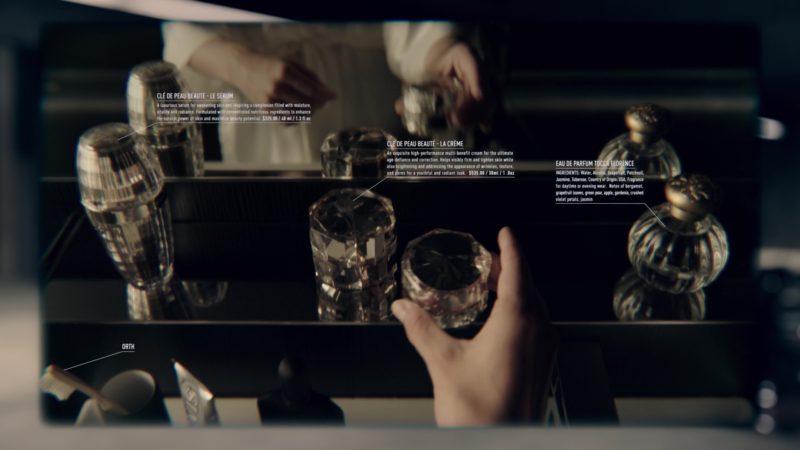 Clé de Peau Beauté Cremes and Tocca Fragrance in Anon (2018) Movie Product Placement