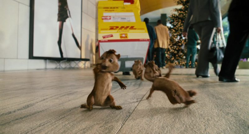 DHL in Alvin and the Chipmunks (2007) Movie Product Placement