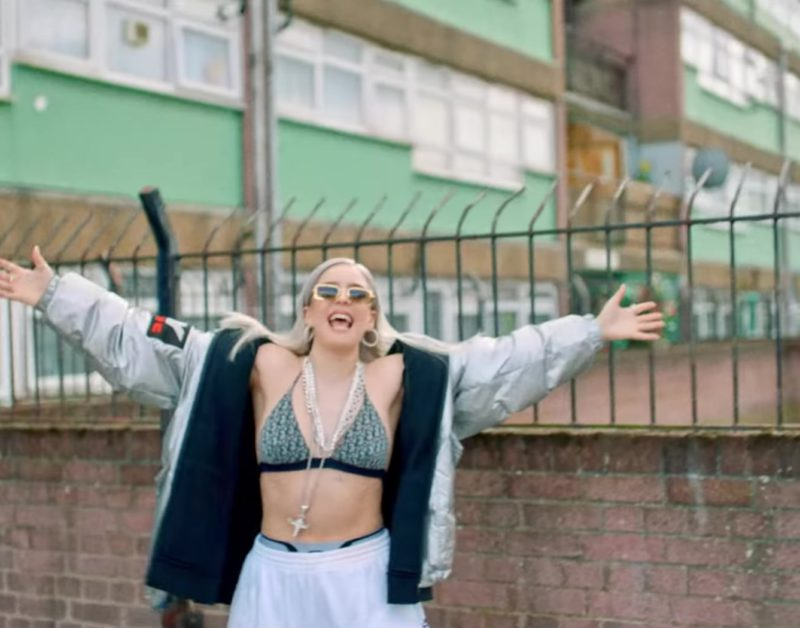 DKNY Jacket Worn by Anne-Marie in 2002 (2018) Official Music Video Product Placement