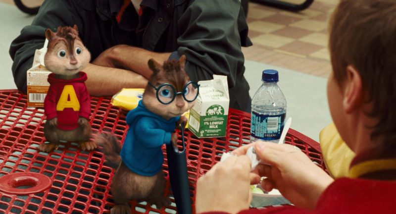 Dasani Water and Welsh Farms Milk in Alvin and the Chipmunks: The Squeakquel (2009) - Movie Product Placement