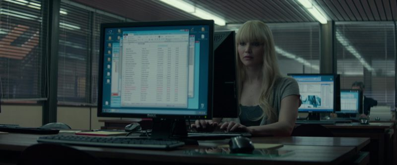Dell Monitor Used by Jennifer Lawrence in Red Sparrow (2018) - Movie Product Placement