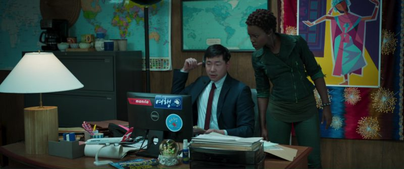 Dell Monitor in Black Panther (2018) Movie Product Placement