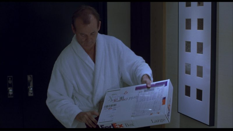Fedex Package Used by Bill Murray in Lost in Translation (2003) Movie Product Placement