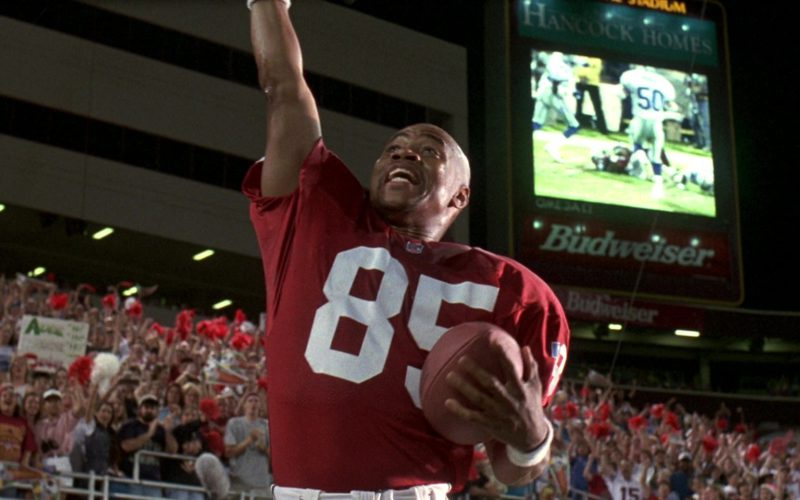 Hancock Homes and Budweiser Scoreboard in Jerry Maguire