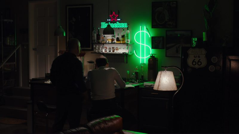 Heineken Sign in Billions: All the Wilburys (2018) TV Show Product Placement