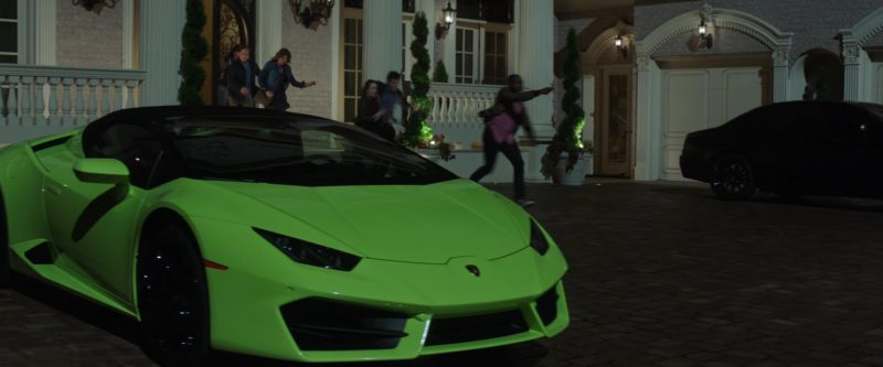 Lamborghini Sports Car in Game Night (2018) Movie Product Placement