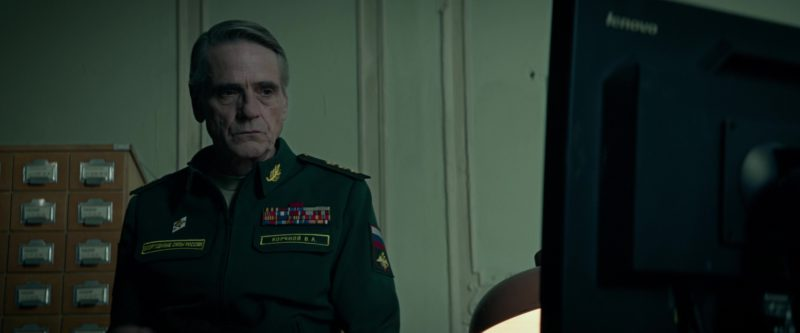 Lenovo Monitor Used by Jeremy Irons in Red Sparrow (2018) Movie Product Placement