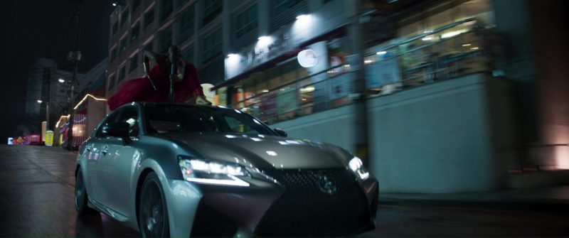 Lexus GS F Car in Black Panther (2018) Movie Product Placement