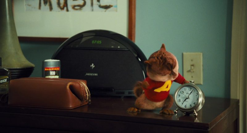 Meridian Audio Clock in Alvin and the Chipmunks: The Squeakquel (2009) - Movie Product Placement