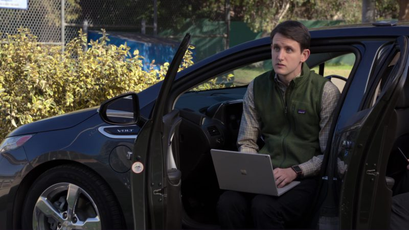 Microsoft Laptop, Chevrolet Volt and Patagonia Vest in Silicon Valley: Tech Evangelist (2018) TV Show Product Placement