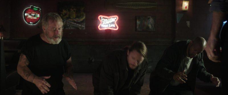 Miller Neon Sign in Game Night (2018) Movie
