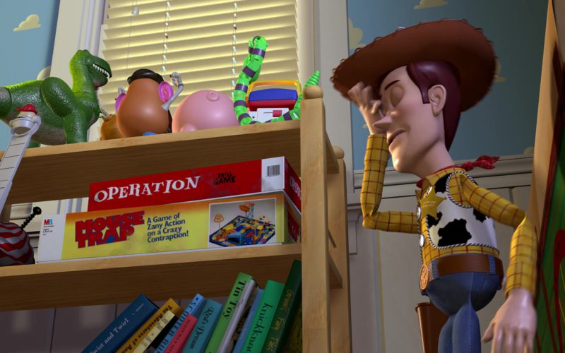 Milton Bradley Operation Skill Game and Mouse Trap Game in Toy Story