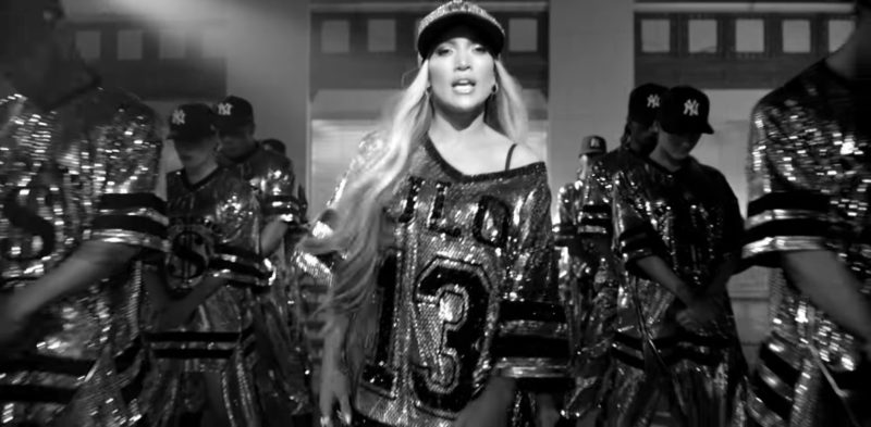 New Era New York Yankees Black Caps Worn by Models in Dinero by Jennifer Lopez ft. DJ Khaled, Cardi B (2018) Official Music Video Product Placement