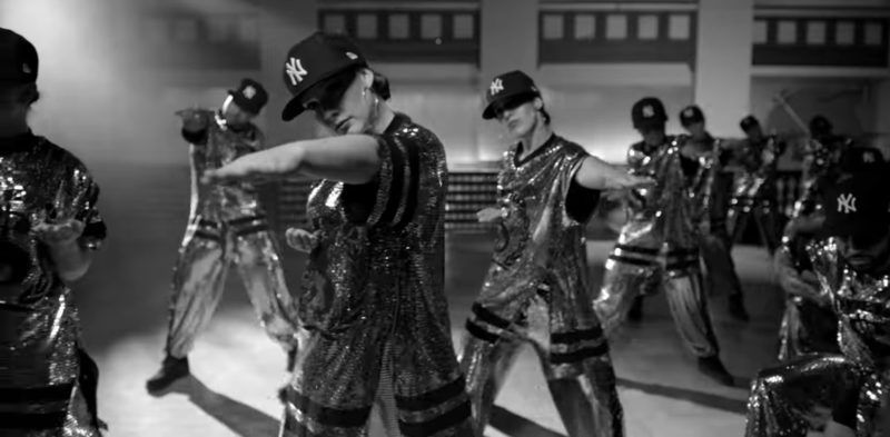 New Era New York Yankees Black Caps Worn by Models in Dinero by Jennifer Lopez ft. DJ Khaled, Cardi B (2018) - Official Music Video Product Placement