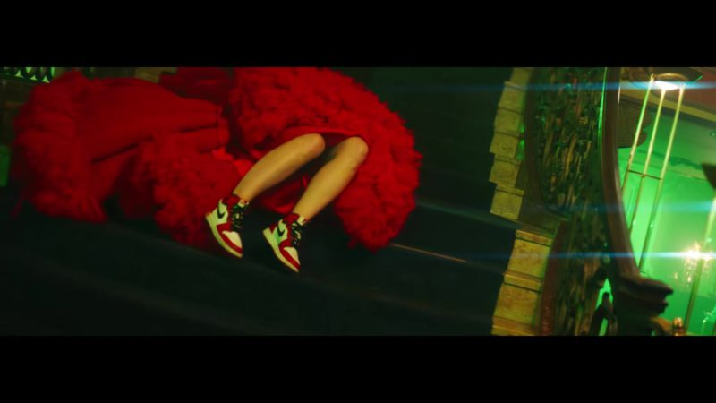 Nike Sneakers Worn by Olivia Wilde in Nice For What by Drake (2018) Official Music Video Product Placement