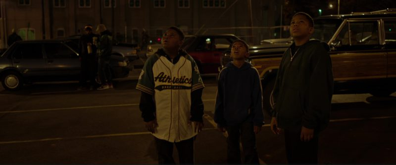 Oakland Athletics Jersey in Black Panther (2018) Movie Product Placement