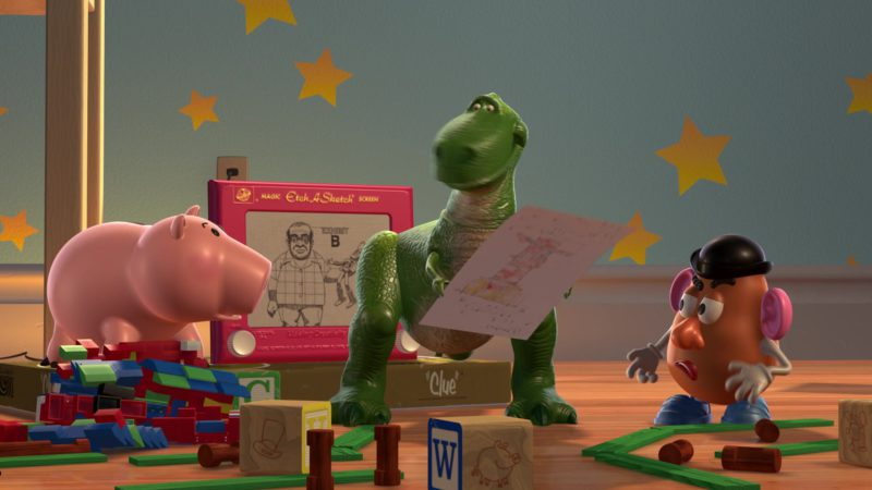 Ohio Art Etch-A-Sketch Screen in Toy Story 2 (1999) - Animation Movie Product Placement