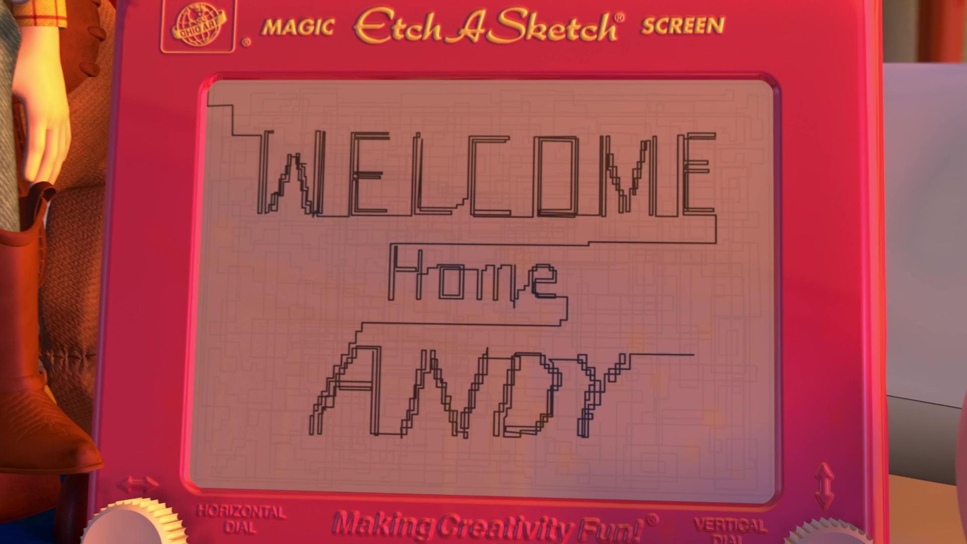 Ohio Art Etch A Sketch Screen In Toy Story 2 1999