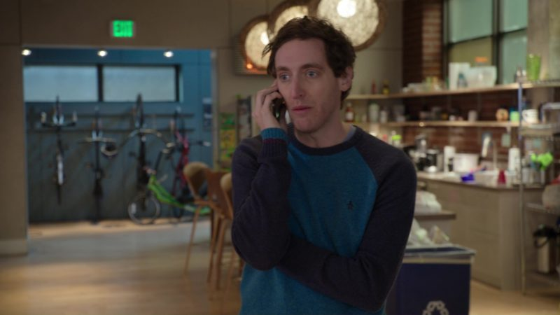 Original Penguin Sweater Worn by Thomas Middleditch in Silicon Valley: Fifty-One Percent (2018) - TV Show Product Placement