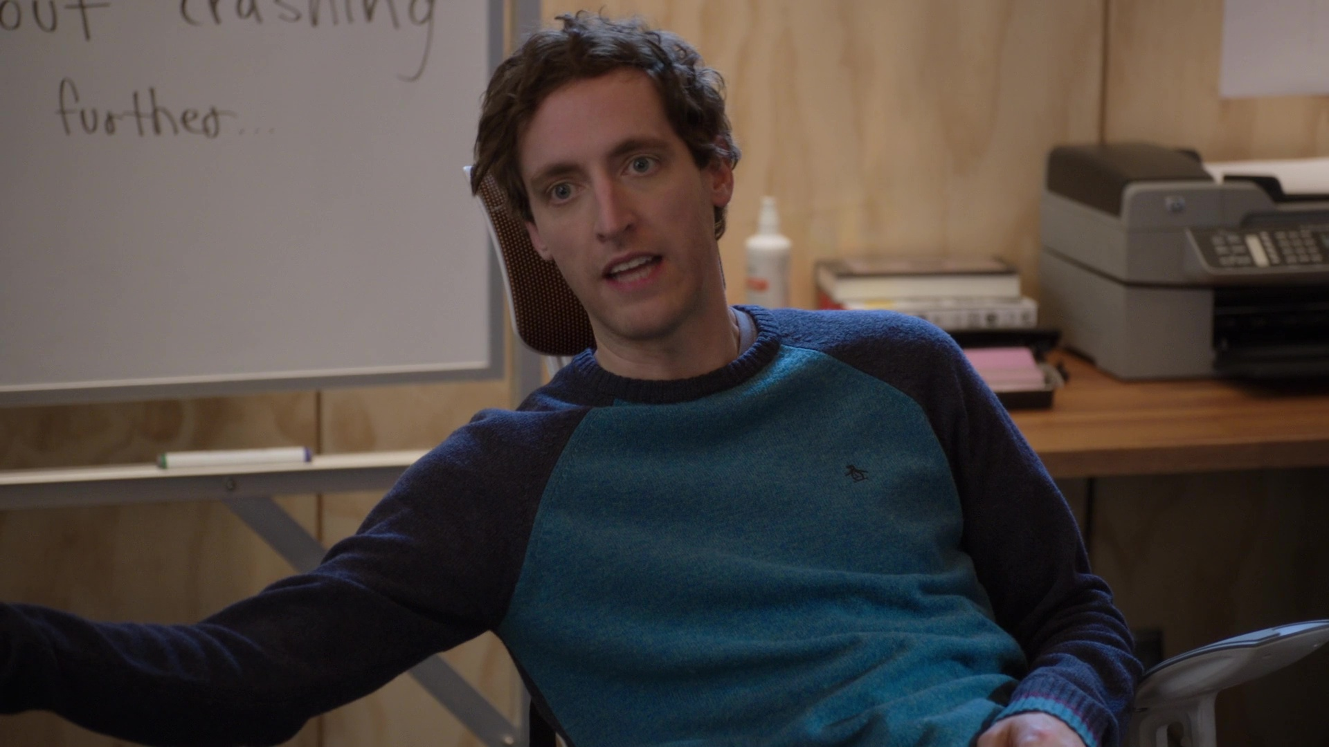 Original Penguin Sweater Worn By Thomas Middleditch In