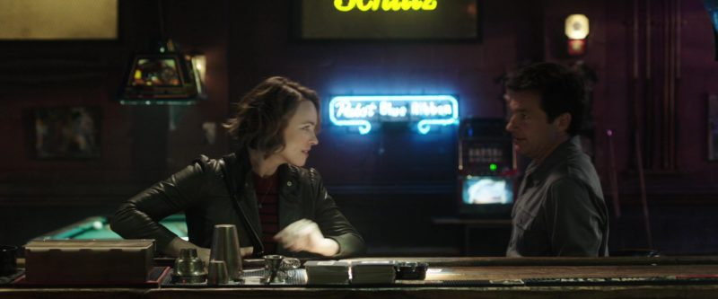 Pabst Blue Ribbon Neon Sign in Game Night (2018) Movie Product Placement