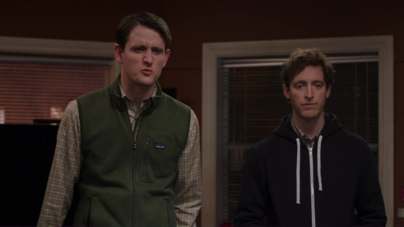 Patagonia Green Vest Worn by Zach Woods in Silicon Valley: Tech Evangelist (2018) - TV Show Product Placement