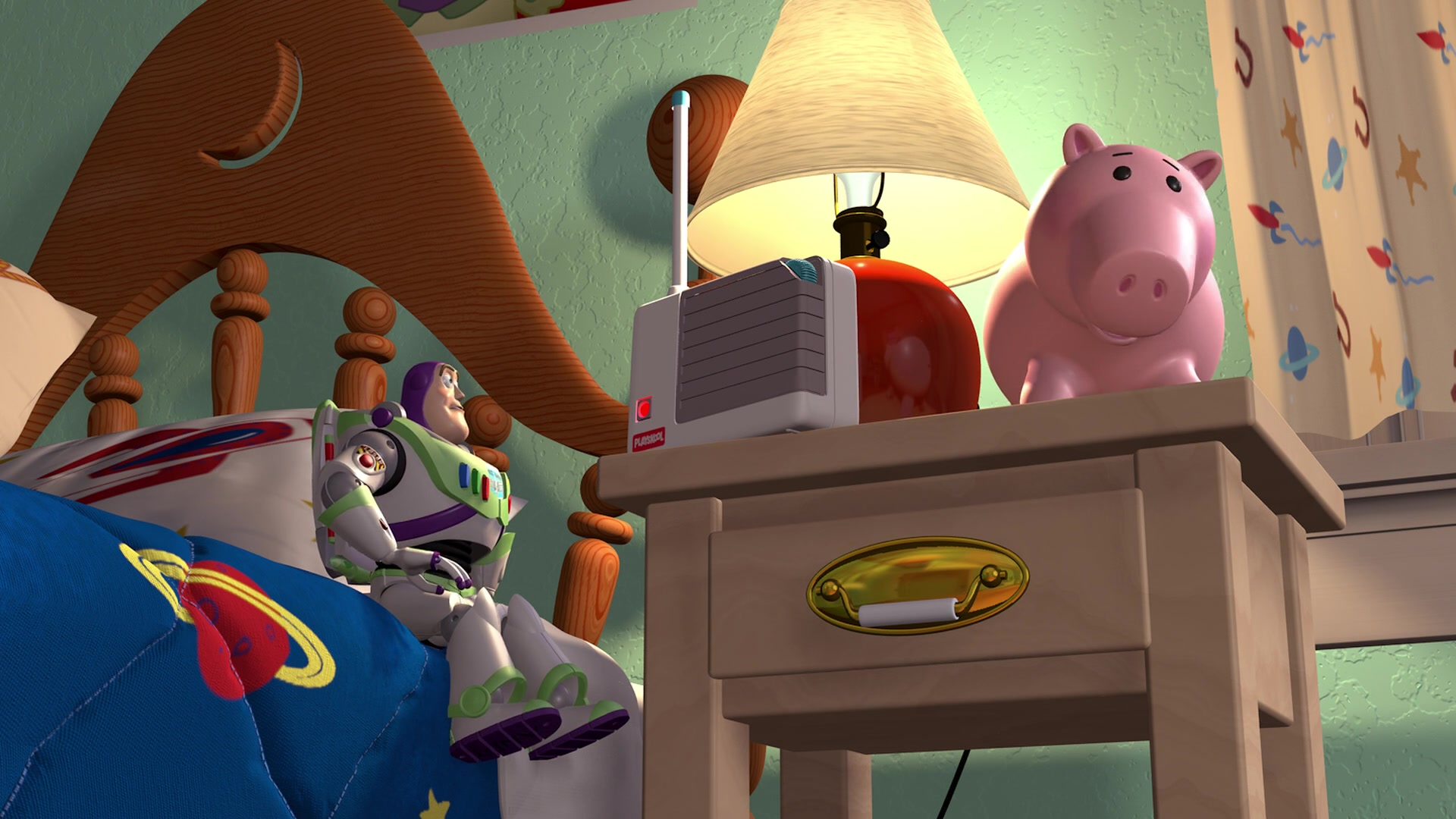playskool baby monitors in toy story  1995  animation movie