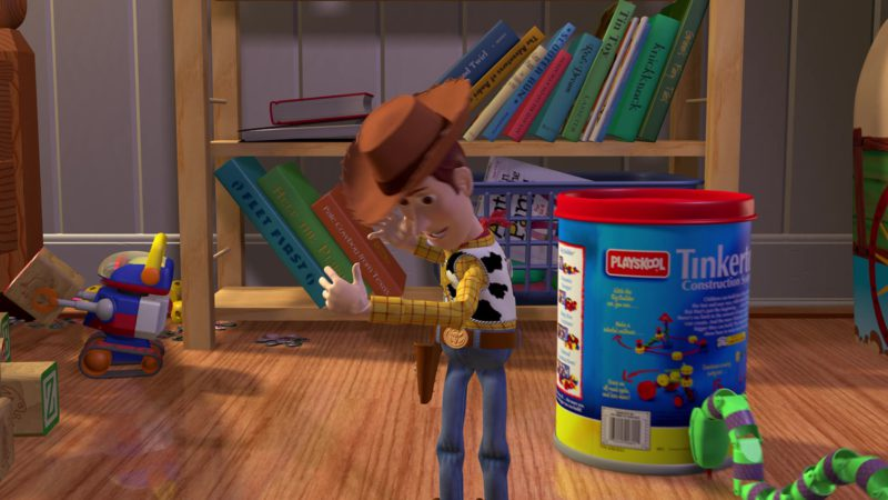 Playskool Tinkertoy Construction System in Toy Story (1995) - Animation Movie Product Placement