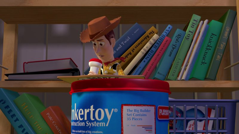 Playskool Tinkertoy Construction System in Toy Story (1995) Animation Movie Product Placement