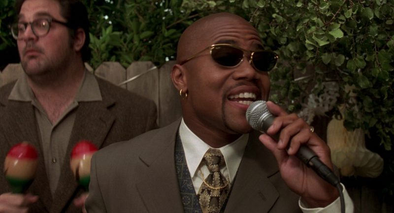 Ray-Ban Gold Frame Sunglasses Worn by Cuba Gooding Jr. in Jerry Maguire (1996) - Movie Product Placement