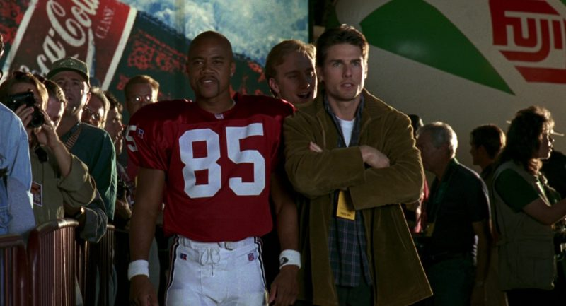 Russell Athletic NFL Jersey Worn by Cuba Gooding Jr., Coca-Cola, Fuji in Jerry Maguire (1996) - Movie Product Placement