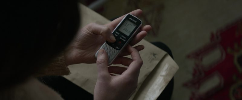 Sony Digital Voice Recorder Used by Jennifer Lawrence in Red Sparrow (2018) - Movie Product Placement