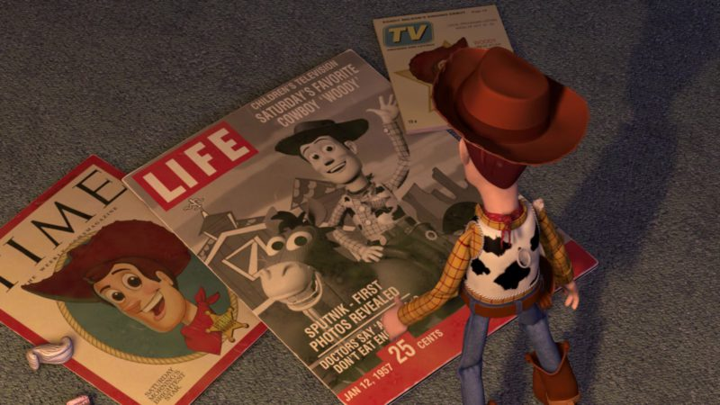 Time And Life Magazines in Toy Story 2 (1999) - Animation Movie Product Placement