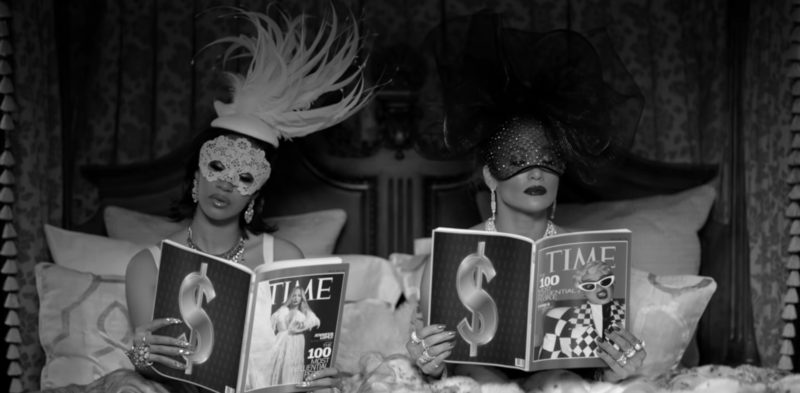 Time Magazines in Dinero by Jennifer Lopez ft. DJ Khaled, Cardi B (2018) Official Music Video Product Placement