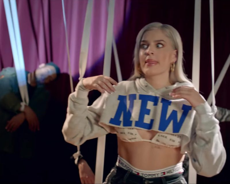 Tommy Hilfiger Underwear Worn by Anne-Marie in 2002 (2018) - Official Music Video Product Placement
