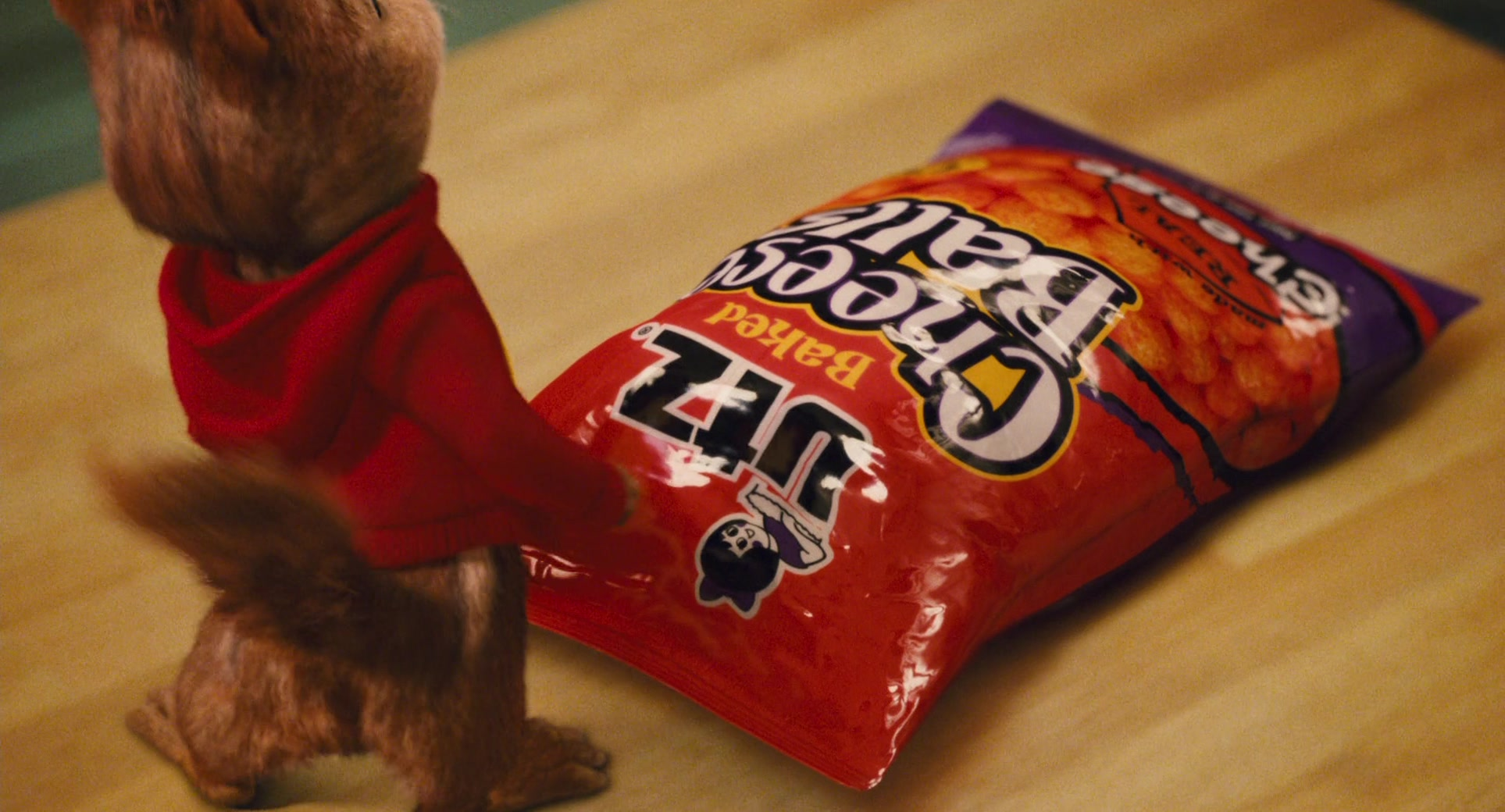 Utz Cheese Balls In Alvin And The Chipmunks The