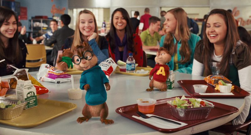 UTZ Chips and Welsh Farms Milk in Alvin and the Chipmunks: The Squeakquel (2009) - Movie Product Placement