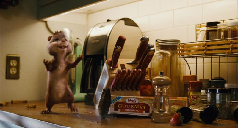 Van's Foods Gourmet Original and Mrs. Dash in Alvin and the Chipmunks (2007) - Movie Product Placement