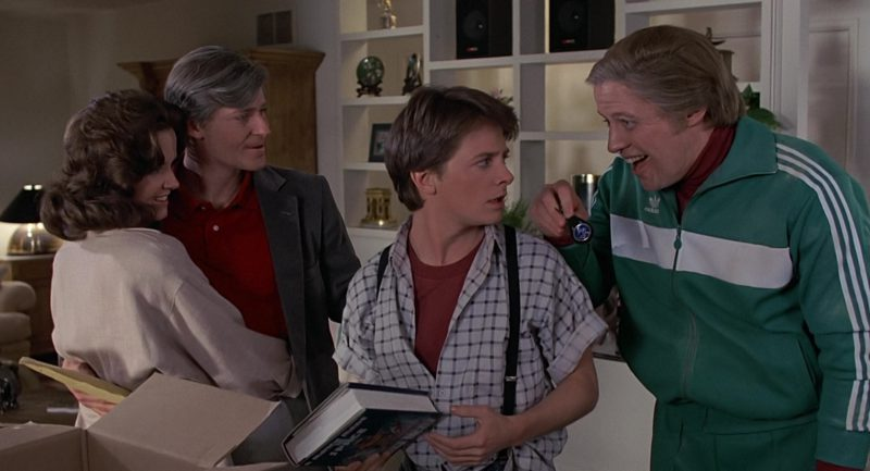 Adidas Green Tracksuit Worn by Thomas F. Wilson (Biff Tannen) in Back to the Future (1985) Movie Product Placement