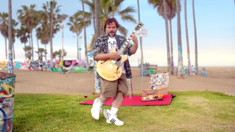 Adidas Sneakers Worn by Jack Black in Humility by Gorillaz (2018) Official Music Video Product Placement