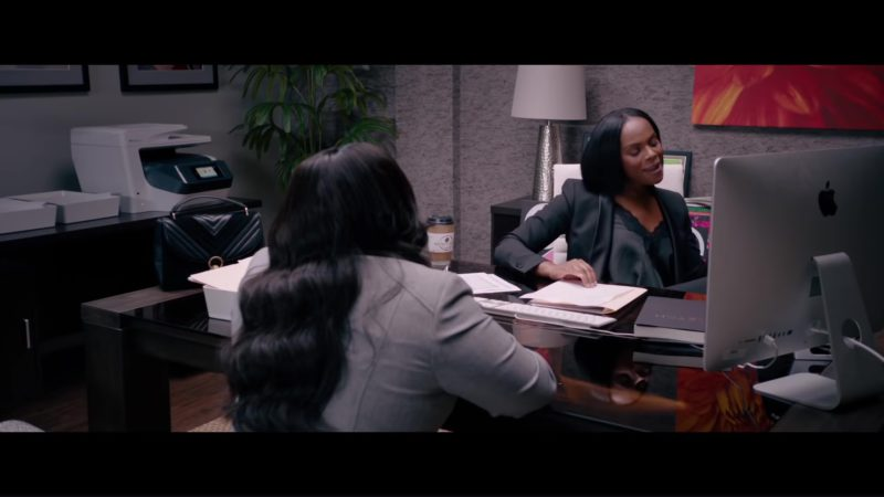 Apple iMac Computer Used by Tiffany Haddish in Nobody's Fool (2018) Movie Product Placement
