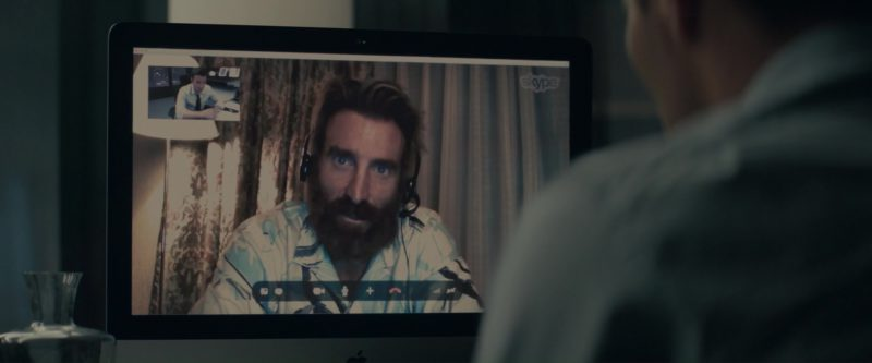 Apple iMac and Skype Used by Joel Edgerton in Gringo (2018) Movie Product Placement