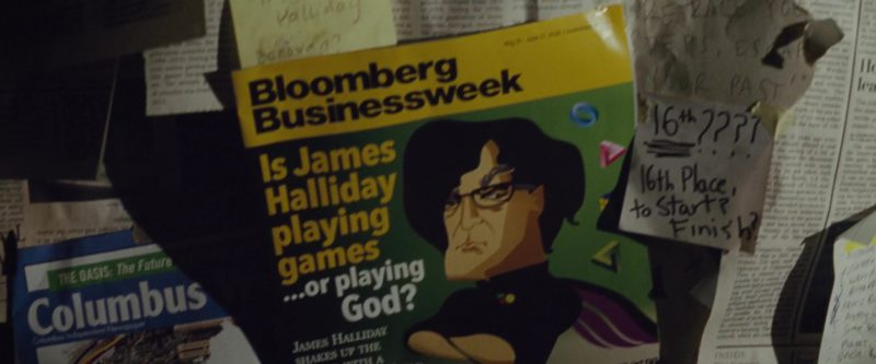 Bloomberg Businessweek Magazine in Ready Player One (2018) Movie Product Placement