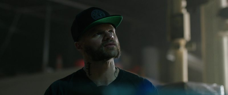 Brixton Snapback Worn by Evan Jones in Den of Thieves (2018) - Movie Product Placement