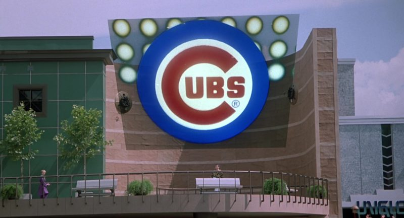 Chicago Cubs Baseball Team in Back to the Future Part 2 (1989) - Movie Product Placement
